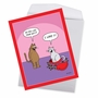 Humorous Valentine's Day Jumbo Card By Scott Metzger From NobleWorksCards.com - Cat In Candy image 3