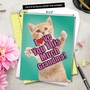 Hilarious Mother's Day Grandma Jumbo Printed Greeting Card By NobleWorks Inc From NobleWorksCards.com - Cat Love You This Much Grandma image 6