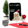 Funny Merry Christmas Paper Greeting Card By Christine Anderson From NobleWorksCards.com - Cat Naughty List image 6