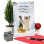 Funny Merry Christmas Paper Greeting Card From NobleWorksCards.com - Cat Snow Celebration image 6