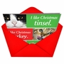 Funny Christmas Greeting Card by Laird Long from NobleWorksCards.com - Cats Getting Worried image 2