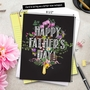 Stylish Father's Day Grandpa Jumbo Paper Greeting Card By NobleWorks Inc From NobleWorksCards.com - Chalk And Roses image 6