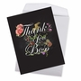 Creative Boss Thank You Jumbo Printed Greeting Card From NobleWorksCards.com - Chalk and Roses image 2