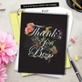 Creative Boss Thank You Jumbo Printed Greeting Card From NobleWorksCards.com - Chalk and Roses image 6
