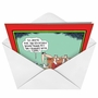 Funny Christmas Printed Card by Glenn McCoy from NobleWorksCards.com - Chimney With Care image 2