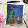 Creative Christmas Jumbo Paper Greeting Card by Amy Kern Wickline from NobleWorksCards.com - Coloring image 6