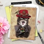 Creative Christmas Jumbo Paper Greeting Card from NobleWorksCards.com - Steampunk Cats image 6