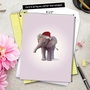 Creative Christmas Jumbo Paper Greeting Card by John Butler from NobleWorksCards.com - Zoo Babies image 6