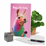 Stylish Birthday Paper Card From NobleWorksCards.com - Colorful Creatures image 6