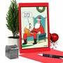 Humorous Merry Christmas Paper Card By Tim Whyatt From NobleWorksCards.com - Cone Dog image 6