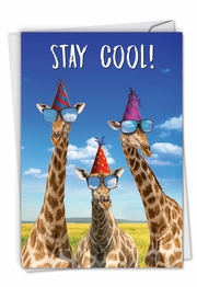 Cool Giraffes Card