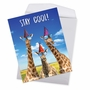 Hysterical Birthday Jumbo Printed Card From NobleWorksCards.com - Cool Giraffes image 3