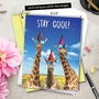 Hysterical Birthday Jumbo Printed Card From NobleWorksCards.com - Cool Giraffes image 6