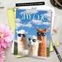 Hysterical Congratulations Jumbo Printed Greeting Card From NobleWorksCards.com - Cool Llamas image 6