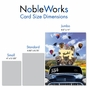 Creative Graduation Thank You Jumbo Printed Card From NobleWorksCards.com - Cougar Mascot - 2019 image 4