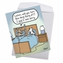 Funny Sorry Jumbo Paper Greeting Card By Dave Blazek From NobleWorksCards.com - Cow Fence image 2