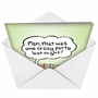 Funny New Year Paper Greeting Card by Randall McIlwaine from NobleWorksCards.com - Crazy Party Gnu Year image 2