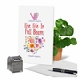 Stylish Birthday Paper Greeting Card From NobleWorksCards.com - Crazy Plant Lady - Full Bloom image 6