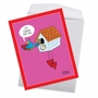 Funny Valentine's Day Jumbo Paper Greeting Card By Maria Scrivan From NobleWorksCards.com - Cuckoo For You image 3