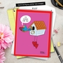 Funny Valentine's Day Jumbo Paper Greeting Card By Maria Scrivan From NobleWorksCards.com - Cuckoo For You image 6