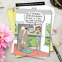 Humorous Father's Day Jumbo Greeting Card by Glenn McCoy from NobleWorksCards.com - Curtains image 6