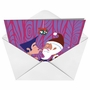 Creative Christmas Greeting Card from NobleWorksCards.com - Daddy Kissing Santa Claus image 2