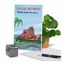 Humorous Retirement Paper Greeting Card By Jamie Charteris From NobleWorksCards.com - Dam Shame image 6