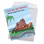 Hysterical Retirement Jumbo Printed Greeting Card By Jamie Charteris From NobleWorksCards.com - Dam Shame image 3
