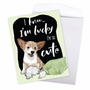 Stylish Birthday Jumbo Paper Greeting Card By Christine Anderson From NobleWorksCards.com - Dog Antics - Pillow Eater image 3