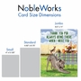 Funny Thank You Jumbo Card By Kerry Swope From NobleWorksCards.com - Dog Assistance image 4