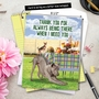 Funny Thank You Jumbo Card By Kerry Swope From NobleWorksCards.com - Dog Assistance image 6