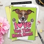 Stylish Mother's Day Jumbo Paper Card From NobleWorksCards.com - Dog Love You This Much image 6