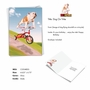 Funny Birthday Paper Greeting Card By Michael Quackenbush From NobleWorksCards.com - Dog On Trike image 2