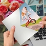Funny Birthday Paper Greeting Card By Michael Quackenbush From NobleWorksCards.com - Dog On Trike image 3