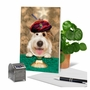 Humorous Birthday Paper Greeting Card By Michael Quackenbush From NobleWorksCards.com - Dog Psychic image 6