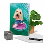 Humorous Birthday Card By Michael Quackenbush From NobleWorksCards.com - Dog Surfer image 6