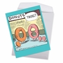 Humorous Baby Jumbo Paper Card By Dave Coverly From NobleWorksCards.com - Donut Twins image 2