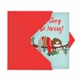 Hilarious Merry Christmas Printed Card From NobleWorksCards.com - Eat, Sleep and Be Merry image 2