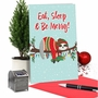 Hilarious Merry Christmas Printed Card From NobleWorksCards.com - Eat, Sleep and Be Merry image 5
