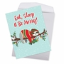 Hysterical Merry Christmas Jumbo Printed Card From NobleWorksCards.com - Eat, Sleep and Be Merry image 2