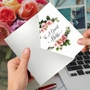 Creative Boss's Day Printed Greeting Card From NobleWorksCards.com - Elegant Flowers image 3