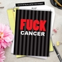 Humorous Blank Jumbo Paper Card from NobleWorksCards.com - Fuck Cancer image 6