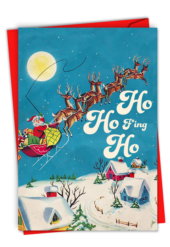 F*ing Ho: Hysterical Merry Christmas Greeting Card