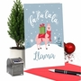 Funny Merry Christmas Paper Card From NobleWorksCards.com - Fa La La La Llama image 5