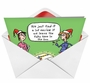 Hysterical Christmas Paper Greeting Card by Stanley Makowski from NobleWorksCards.com - Fake Tree in Box image 2