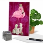 Creative Birthday Printed Card By Heather Gauthier From NobleWorksCards.com - Fancy Wildlife - Flamingo image 6