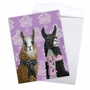 Stylish Birthday Jumbo Paper Card By Heather Gauthier From NobleWorksCards.com - Fancy Wildlife - Llamas image 3