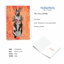 Stylish Easter Paper Greeting Card By Heather Gauthier From NobleWorksCards.com - Fancy Wildlife - Rabbit image 2