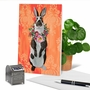 Stylish Easter Paper Greeting Card By Heather Gauthier From NobleWorksCards.com - Fancy Wildlife - Rabbit image 6