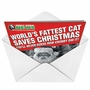 Humorous Christmas Greeting Card by Weekly World News from NobleWorksCards.com - Fat Cat Christmas image 2